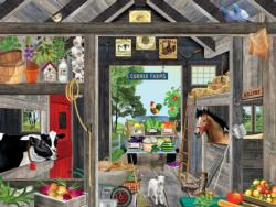 Back Yard Barn Farm Animals Jigsaw Puzzle