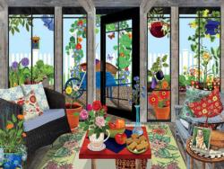 Sunroom Domestic Scene Jigsaw Puzzle