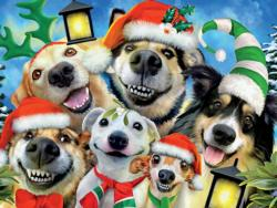 Christmas Pups (Selfies) Christmas Jigsaw Puzzle