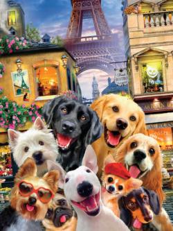In Paris Dogs Jigsaw Puzzle