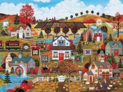 Autumn's Palette Americana & Folk Art Jigsaw Puzzle