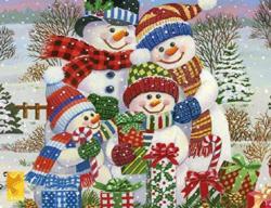 Snow Family Christmas Jigsaw Puzzle
