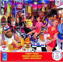 USA Diner Food and Drink Jigsaw Puzzle