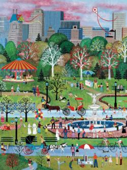 Springtime in Central Park New York Jigsaw Puzzle