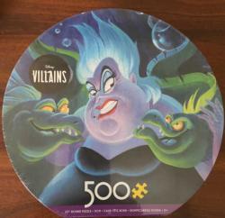 Villains Ursula Disney Round Jigsaw Puzzle