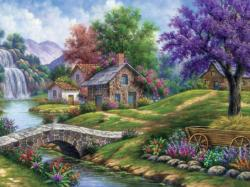 Tranquility - Scratch and Dent Cottage / Cabin Jigsaw Puzzle
