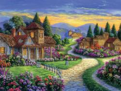 Twilight at End of Day Sunrise / Sunset Jigsaw Puzzle