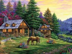 Rock of Wolves Sunrise / Sunset Jigsaw Puzzle