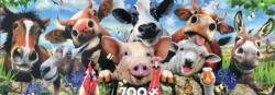 Farm Fun Farm Animals Panoramic Puzzle