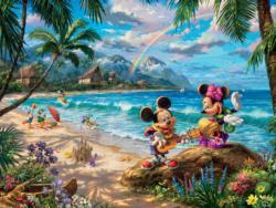 Mickey & Minnie In Hawaii Cartoon Jigsaw Puzzle