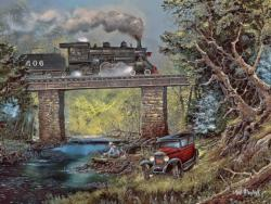 Rails on Dogwood Creek Fishing Jigsaw Puzzle