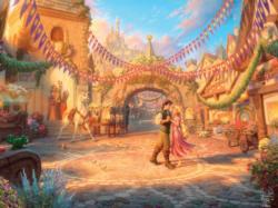 Rapunzel Dancing in the Sunlit Courtyard Princess Jigsaw Puzzle