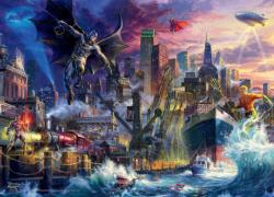 Gotham Pier Showdown Super-heroes Jigsaw Puzzle