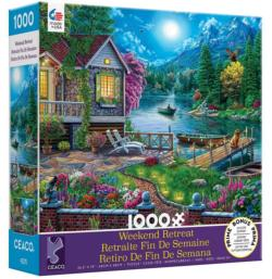 Lakehouse Night Jigsaw Puzzle