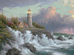 Conquering the Storms Sunrise/Sunset Jigsaw Puzzle