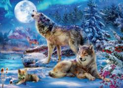 Winter Wolf Family Wolves Jigsaw Puzzle
