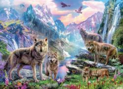 Spring Wolves Landscape Jigsaw Puzzle