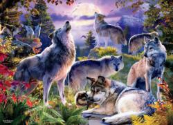 Wolf Pack Forest Jigsaw Puzzle
