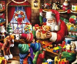 Santa's Workshop Christmas Jigsaw Puzzle