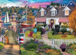 Charles Harbor Seascape / Coastal Living Jigsaw Puzzle