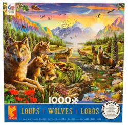 Summer Wolf Family Sunrise / Sunset Jigsaw Puzzle