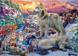 Winter Wolves Landscape Jigsaw Puzzle