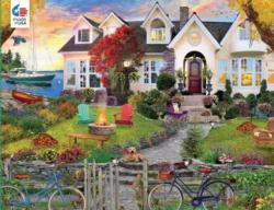 Coastside Home Sunrise / Sunset Jigsaw Puzzle