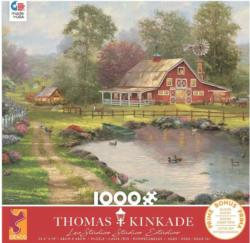 Red Barn Retreat Lakes / Rivers / Streams Jigsaw Puzzle