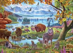 North American Wildlife Landscape Jigsaw Puzzle