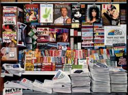 Historic Newsstand (Ken Keely) Magazines and Newspapers Jigsaw Puzzle