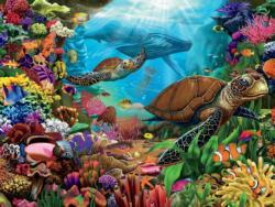 Turtle's Ocean Voyage Turtles Jigsaw Puzzle