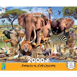 African Plains Elephants Jigsaw Puzzle