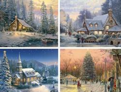 Thomas Kinkade 4 in 1 Christmas Christmas Multi-Pack
