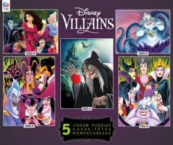 Villians 5 in 1 (Disney) 2 Cartoons Children's Puzzles