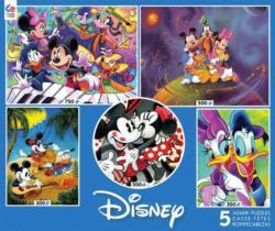 Disney Classics 5 in 1 Multipack Puzzle Set Cartoons Multi-Pack