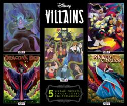 Disney Villains 5 in 1 Multipack Puzzle Set - Scratch and Dent Disney Multi-Pack
