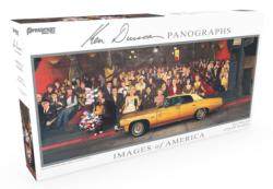 Images of America Panoramic Puzzle - Hollywood Dreams Collage Panoramic Puzzle