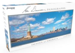 Images of America Panoramic Puzzle - Lady Liberty Statue of Liberty Panoramic Puzzle
