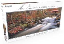 Images of America Panoramic Puzzle - Wistful Waters Lakes / Rivers / Streams Panoramic Puzzle