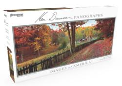 Images of America Panoramic Puzzle - Pioneer Farm Landscape Panoramic Puzzle