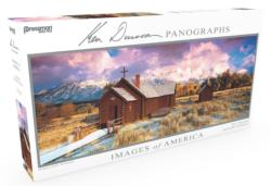 Images of America Panoramic Puzzle - Divine Light Churches Panoramic Puzzle