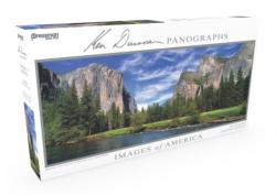 Images of America Panoramic Puzzle - Bridal Veil Falls Photography Panoramic Puzzle