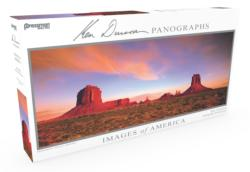 Images of America Panoramic Puzzle - Monument Valley Photography Panoramic Puzzle