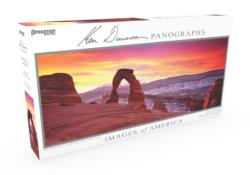 Images of America Panoramic Puzzle - Delicate Arch Photography Panoramic Puzzle
