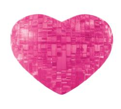 Heart (Pink) Hearts Crystal Puzzle