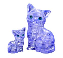 Cat & Kitten Kittens Crystal Puzzle