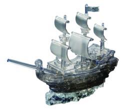 Pirate Ship (Blk) Boats Jigsaw Puzzle