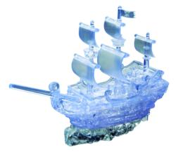 Pirate Ship (Clear) - Scratch and Dent Boats Crystal Puzzle
