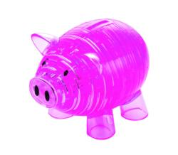 Piggy Bank (Pink) Pig Crystal Puzzle