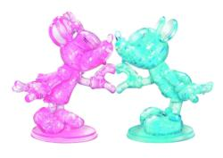 Minnie and Mickey Mouse Heart Disney Crystal Puzzle